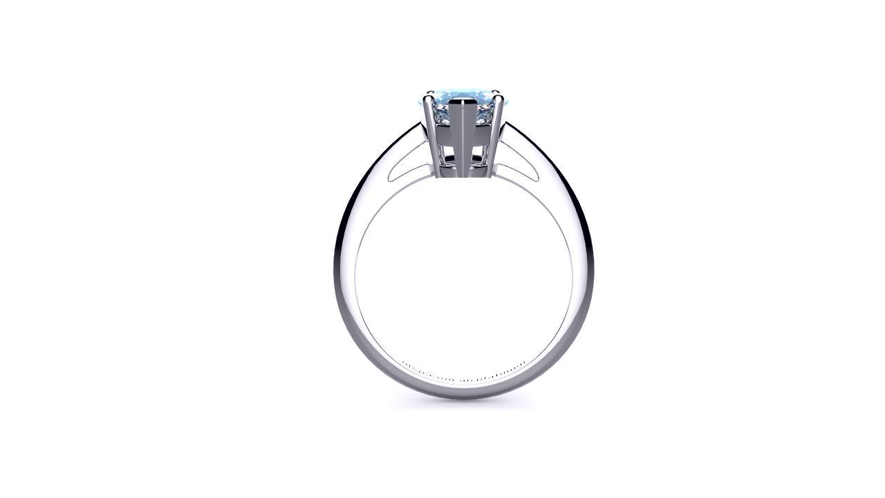 Perth diamond company classic marquise diamond ring side view
