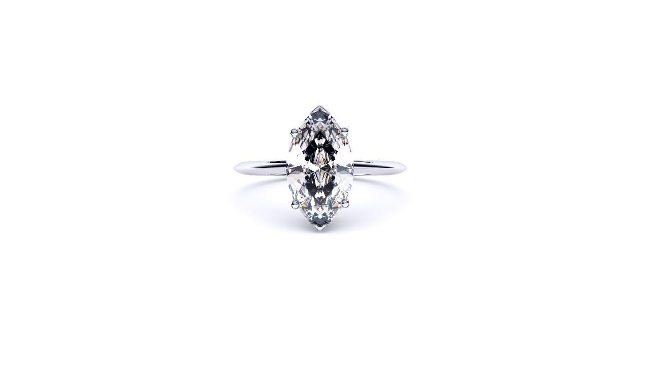 Perth diamond company classic marquise diamond ring front view
