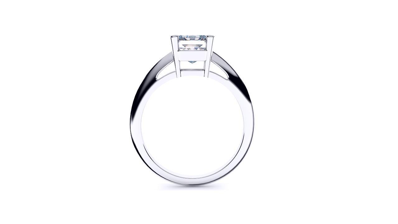 Perth diamond company classic radiant diamond ring side view