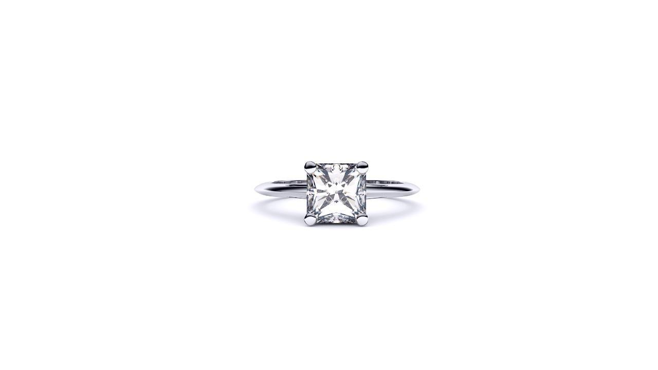 Perth diamond company classic radiant diamond ring front view