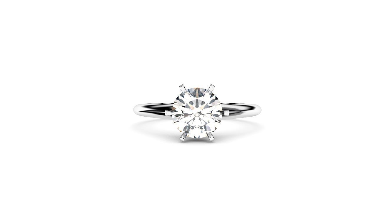 Perth diamond company classic round 6 claw diamond ring front view