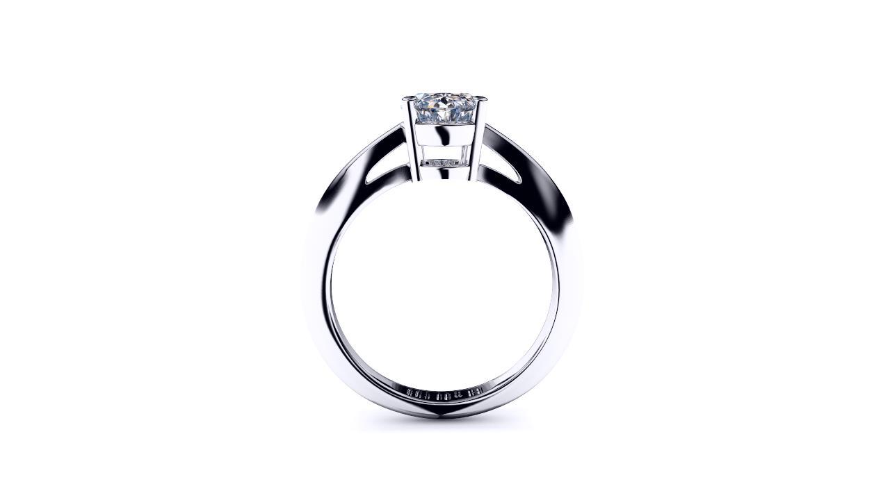 Perth diamond company classic oval diamond ring side view