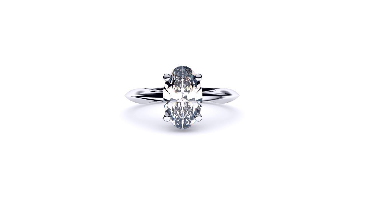 Perth diamond company classic oval diamond ring front view