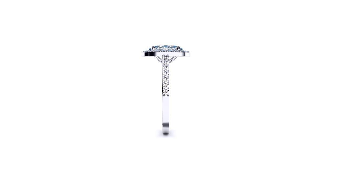 Perth diamond company halo oval diamond ring edge view