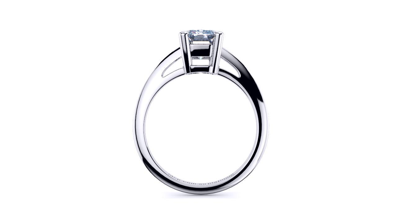 Perth diamond company classic emerald 4 claw diamond ring side page view