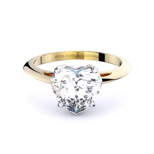 Perth diamond company classic heart diamond ring front page view