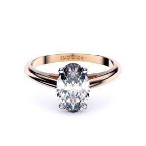 Perth diamond company classic oval diamond ring front page view