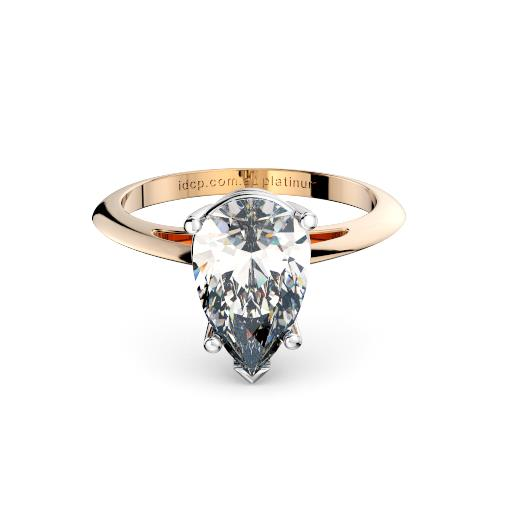 Perth diamond company classic pear diamond ring front page view