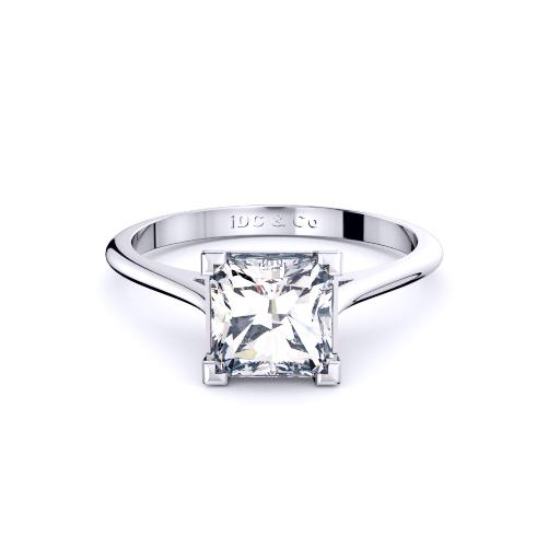 Perth diamond company classic radiant diamond ring front page view