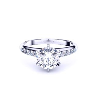 Round with reverse taper diamond set band