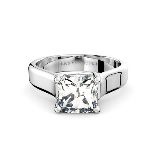 Perth diamonds engagement ring radiant with cross over wide band front page view