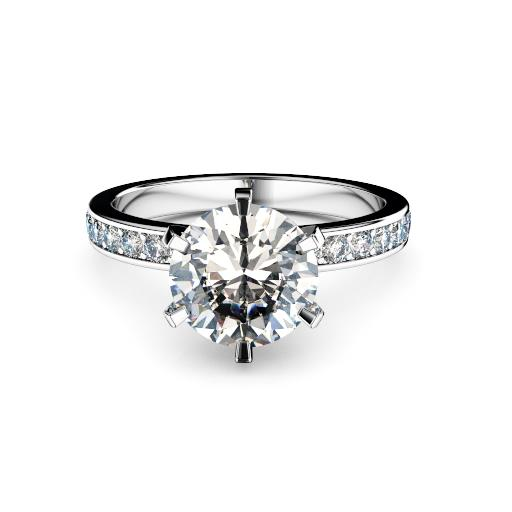 Perth diamonds engagement ring round with round diamonds in band