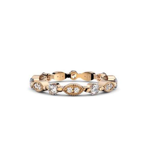 art deco womens wedding band perth diamond company